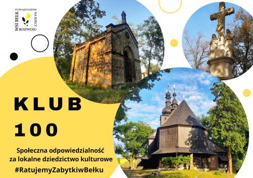 """Dołącz do Klubu """"100"""" – wspieraj lokalne dziedzictwo"""