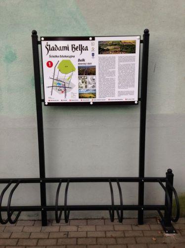 Nowe tablice na ścieżce Śladami Belka