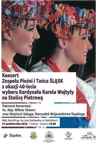 Zespoł Pieśni i Tańca ŚLĄSK wystąpi w Bełku !!!